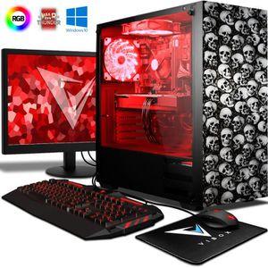 UNITÉ CENTRALE + ÉCRAN VIBOX Omega Pack 44 PC Gamer - AMD 4-Core, Radeon