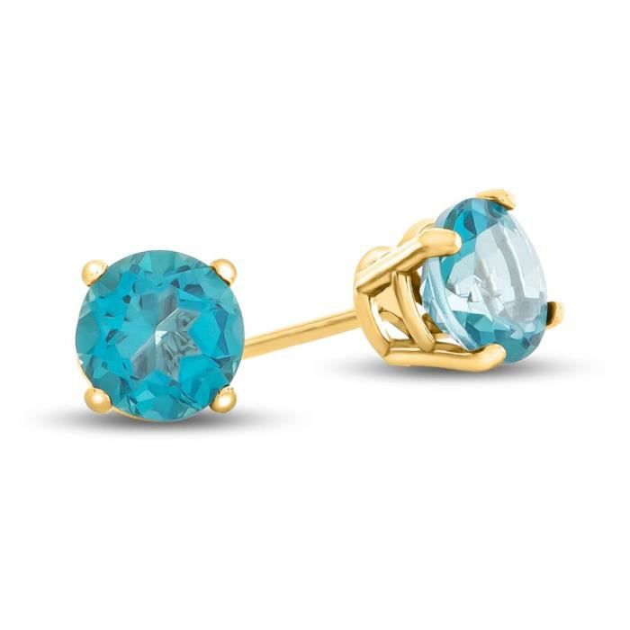 Womens 14k Yellow Gold 4.5x4.5mm Round Post-with-friction-back Stud Earrings H3VDJ
