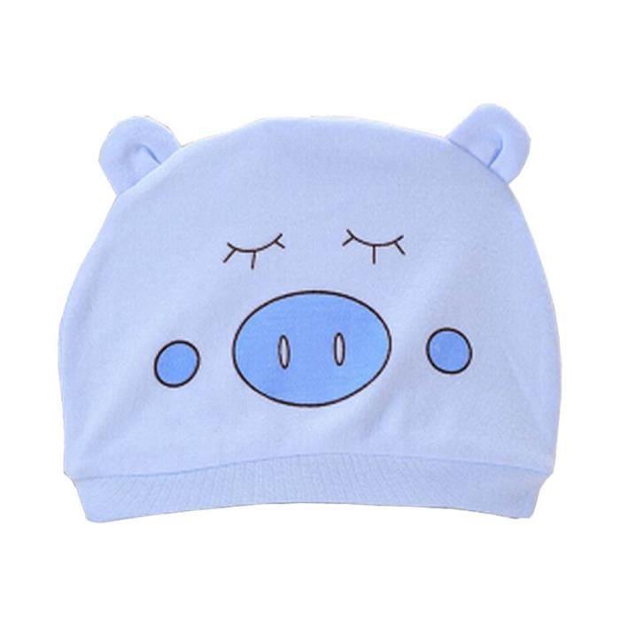 Lot de 3 Chapeaux Infant Caps Chapeau bébé Coton Porc Bleu - Achat ... 804a77ff9eb