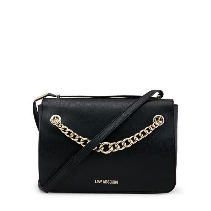 ba04819202 Petit sac bandoulière noir détail chaine - Buzzao Noir - Achat ...