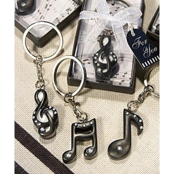 clé de sol porte-clés en métal BONBONNIÈRE