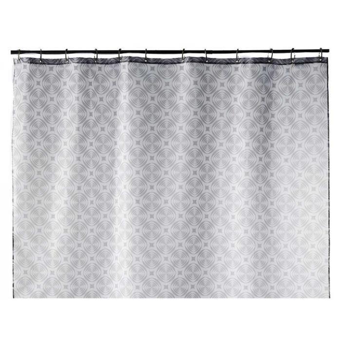 rideau de douche gris g om trique 180x200 achat vente rideau de douche cdiscount. Black Bedroom Furniture Sets. Home Design Ideas