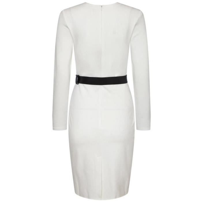Robe Femmes Tempérament Mince Solide Style OL