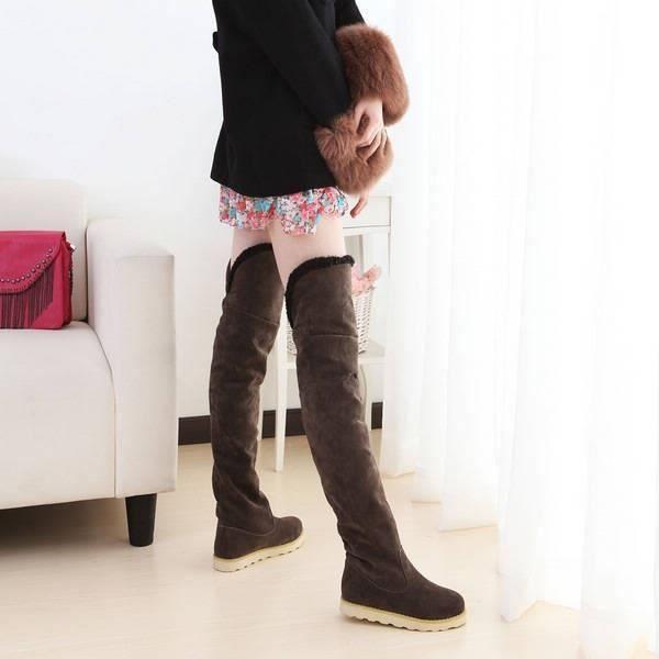 Hot New Style Femmes Hiver chaud Bottes neige plat mat accrue à l'intérieur Bottes femmes de grande taille & # 39; Les