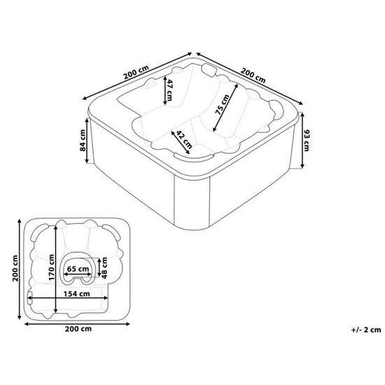 Jacuzzi d extérieur - spa 6 places - acrylique haute qualité argent -  Sanremo - Achat   Vente spa complet - kit spa Jacuzzi d extérieur - spa 6. 629a4700c095