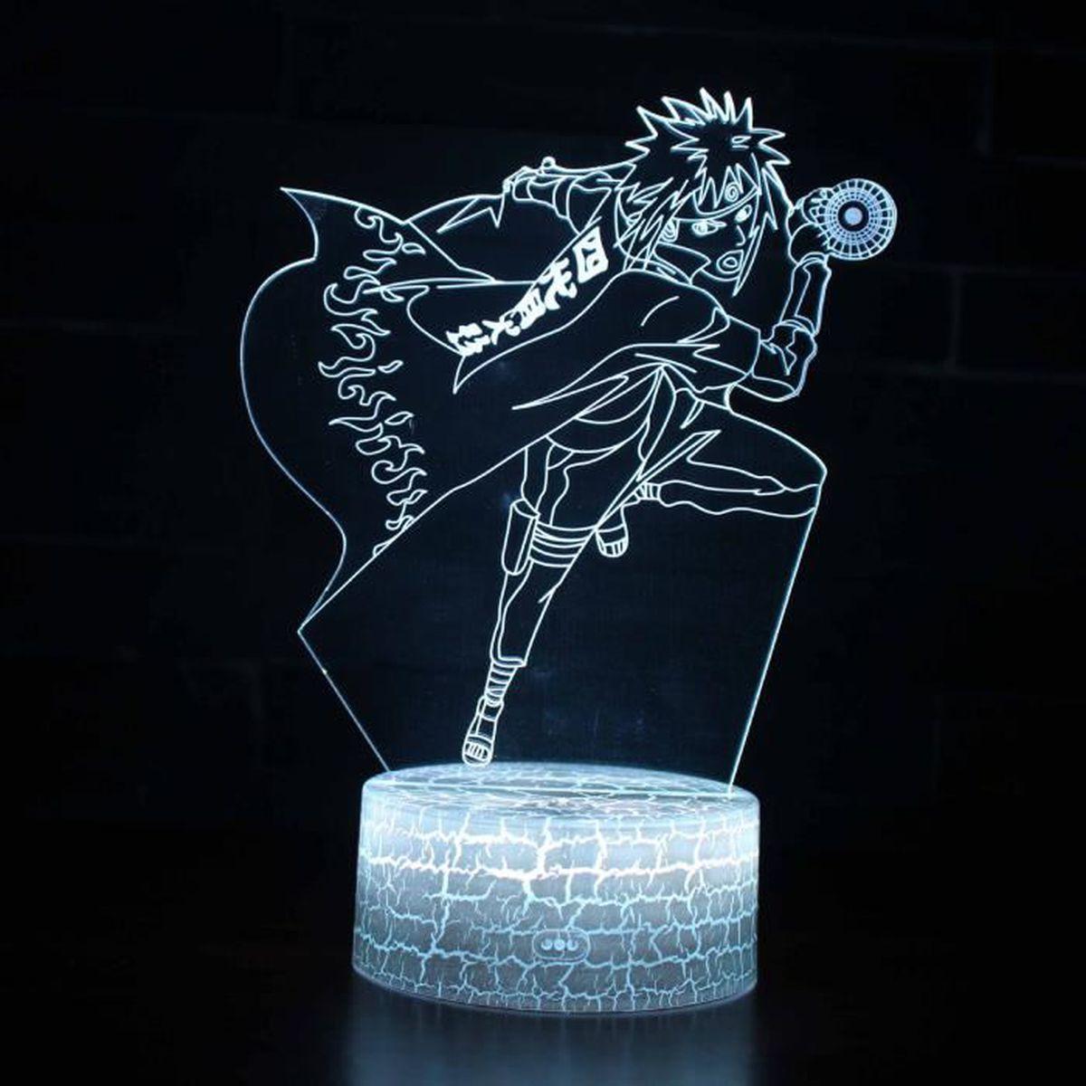 Naruto Kakashi Sasuke Lampe Lumiere De Cadeau 3d Creative Couleur
