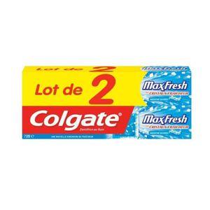 COLGATE Dentifrice Maxfresh Bleu - 75 ml - Lot de 2