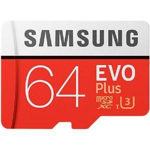 SAMSUNG Carte micro SD Evo Plus - 64 Go - avec adaptateur SD - Classe 10