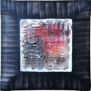 TABLEAU - TOILE ABSTRAIT Tableau déco bombé toile peinte à la main