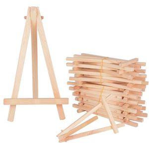 LIVRE AUTRES ARTS 20pcs (15,8 x 8,8cm)  Mini Bois Chevalets Triangle