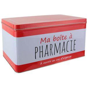 BOITE DE RANGEMENT Ma boîte à Pharmacie - Rouge et blanc