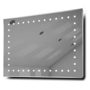 Miroir de salle de bain avec eclairage et prise Achat Vente