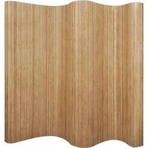 PARAVENT Cloison de séparation Bambou naturel 250 x 195 cm