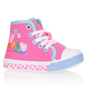BASKET PEGGA PIG Baskets Montantes Chaussures Bébé et Enf