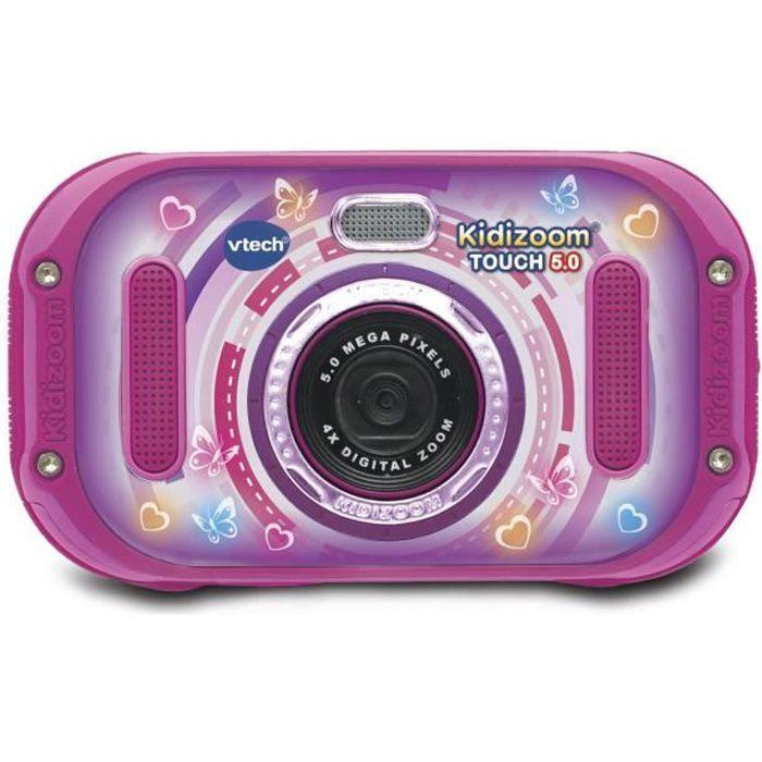 VTECH - Kidizoom Touch 5.0 Rose - Appareil Photo Enfant
