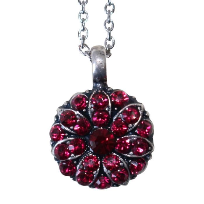 Womens July Birth Month Guardian Angel Red Swarovski Crystal Necklace CHTED