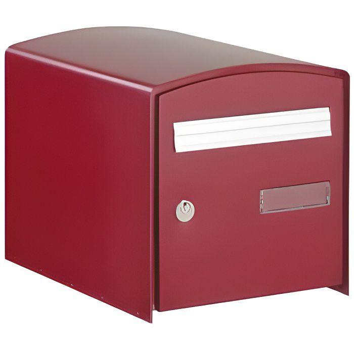 Boite Aux Lettres Dome Simple Face Bordeaux Rouge Achat Vente