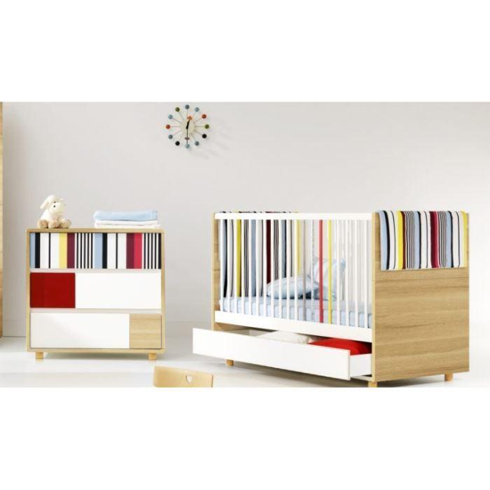 Pack lit bébé évolutif + table à langer EVOLVE Blanc - Achat ...