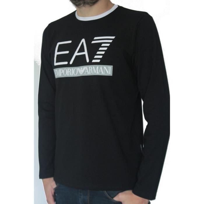 e670d2e9ea80 T-shirt EA7 EMPORIO ARMANI homme manches longues n - Achat   Vente t ...