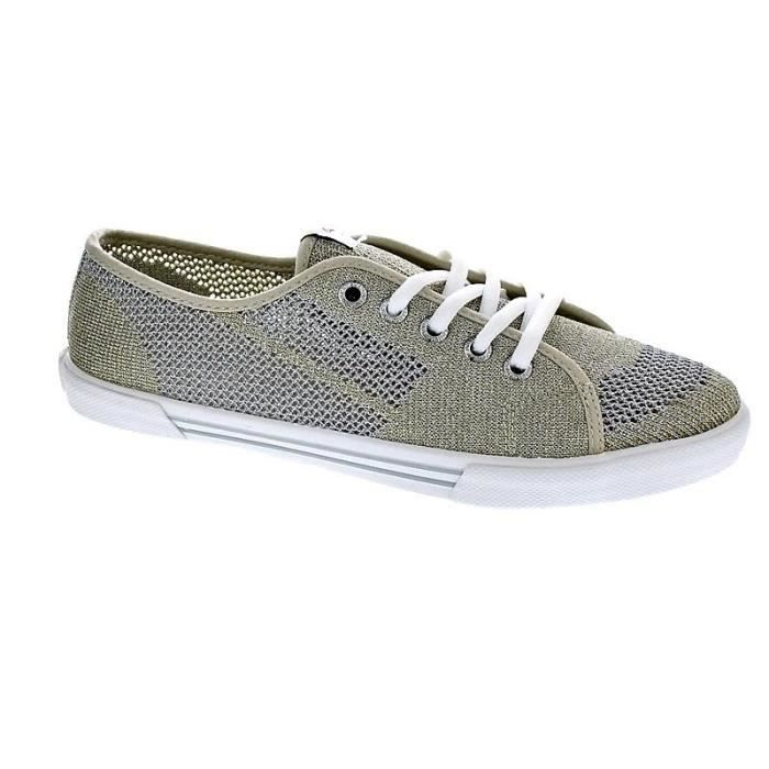 Chaussures Pepe Jeans Femme Basses modèle Aberlady Fishnet Metal Or ... aa92aa68785a