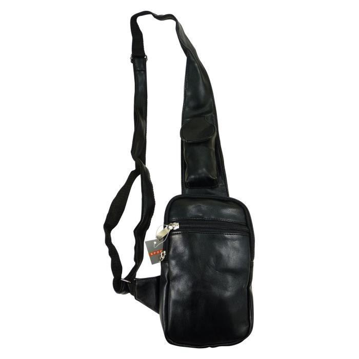 d703a91abf Petite sacoche holster en simili cuir Noir Noir - Achat / Vente ...