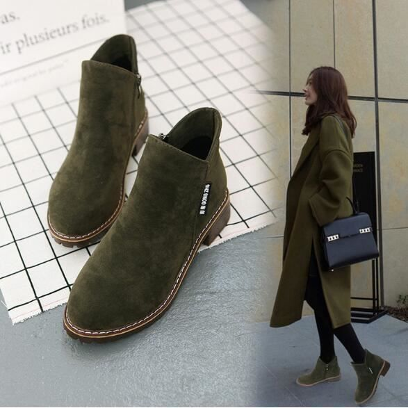 Les nouvelles bottes d'hiver Flat Ladies Chaussures Casual Mocassins femmes, Nya Kvinnors Plana Vinterstövlar Dam Casual