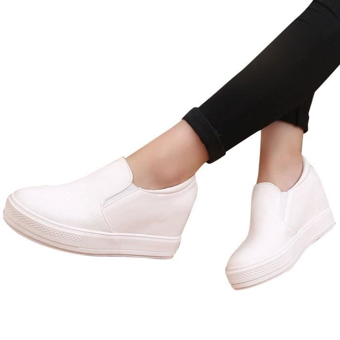 GRAND Femmes Mode Mocassin Forme Nouvel Chaussures Automne HEE Pure Casual Couleur Cuir Plate 7pwFpE