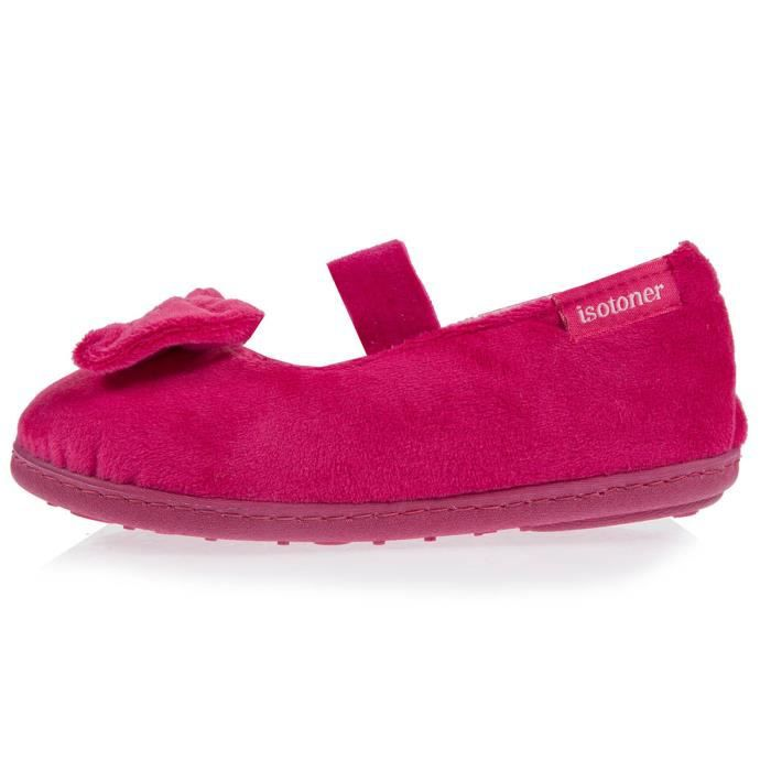 Chaussons ballerines fille gros nœud