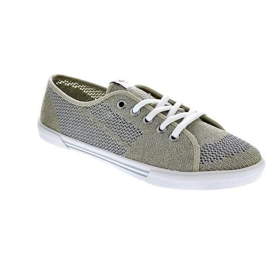 Chaussures Pepe Jeans Femme Basses modèle Aberlady Fishnet Metal Or - Achat    Vente basket - Cdiscount 0fe864790b49