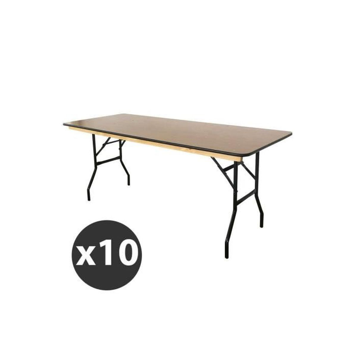 Table pliante en bois 180 cm - Lot de 10 tables - Achat   Vente ... 45e98ddcbbe0
