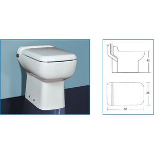 WC - TOILETTES WC avec broyeur incorporé TECHNO FLUX 50