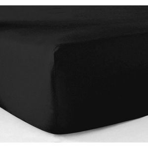 DRAP HOUSSE Drap housse 180x200 cm - pur coton 57 fils - noir
