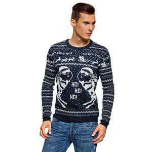 PULL Pull d'hiver avec un motif de Noël pour hommes 1N2