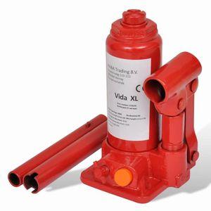 CRIC Cric bouteille hydraulique 2 tonnes Rouge