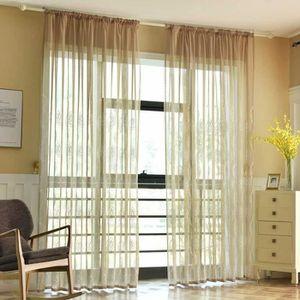 Rideau en Voile brodé Moderne plissé en Tulle pour Le Salon, la Chambre à  Coucher, la décoration de la Maison de 228,6 cmLV430446