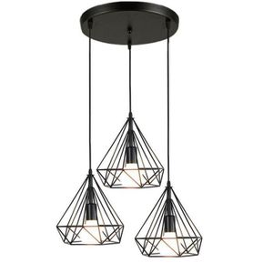 LUSTRE ET SUSPENSION STOEX Suspension Cage Forme Diamant Contemporain 2