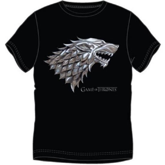 T-shirt Game Of Thrones - King in the North - Noir