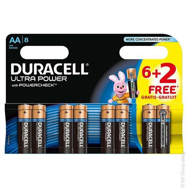 DURACELL 8 Piles Ultra Power - AA