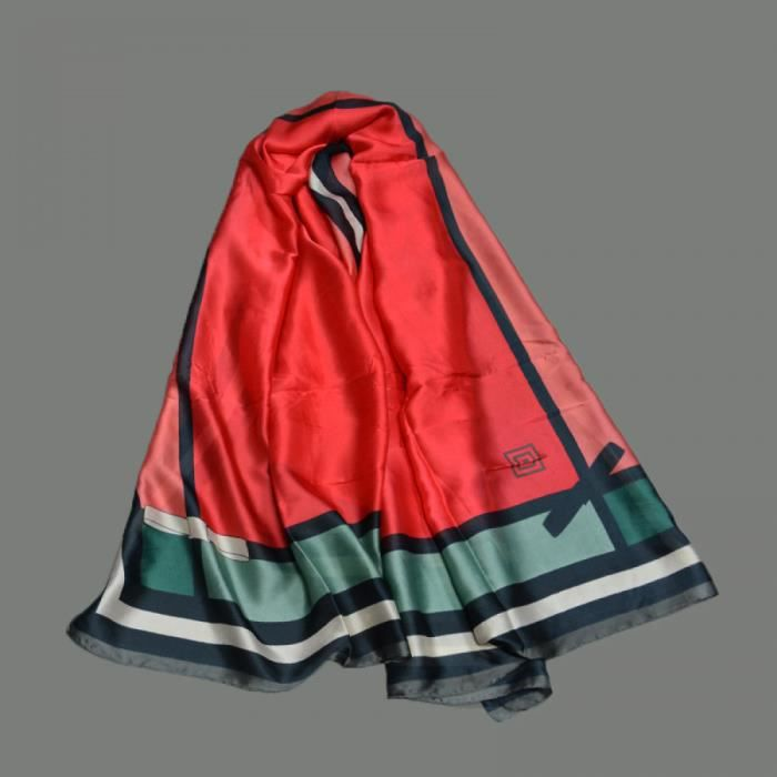 choisir le dernier qualité supérieure prix de liquidation Foulards - écharpe - Volé femmes soie Luxe marque Bandana Femme  LadyWrapsMode ChâleLongue taille 180X90 CM - classe