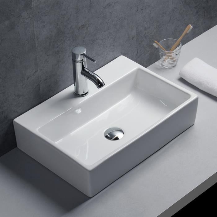 lavabo ou vasque murale en c ramique moderne pour salle de bain achat vente lavabo vasque. Black Bedroom Furniture Sets. Home Design Ideas