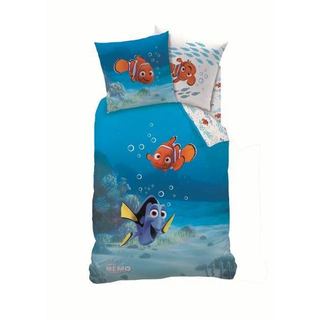 Nemo parure de lit housse de couette r vers achat for Housse de couette le bonheur est sous la couette