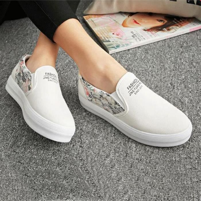 Basket Toile Femme De Sneakers Chaussure Running Plat Sport 7qIPR5UwUx 628d0bad9a4