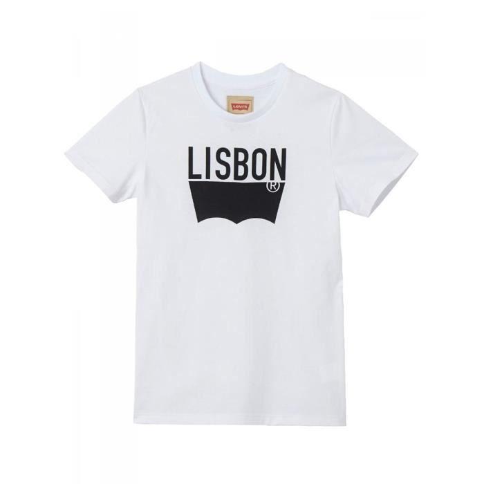 Coton White Jersey Manches Lisbon De Blanc Courtes Levi's Shirt T xpqqYI