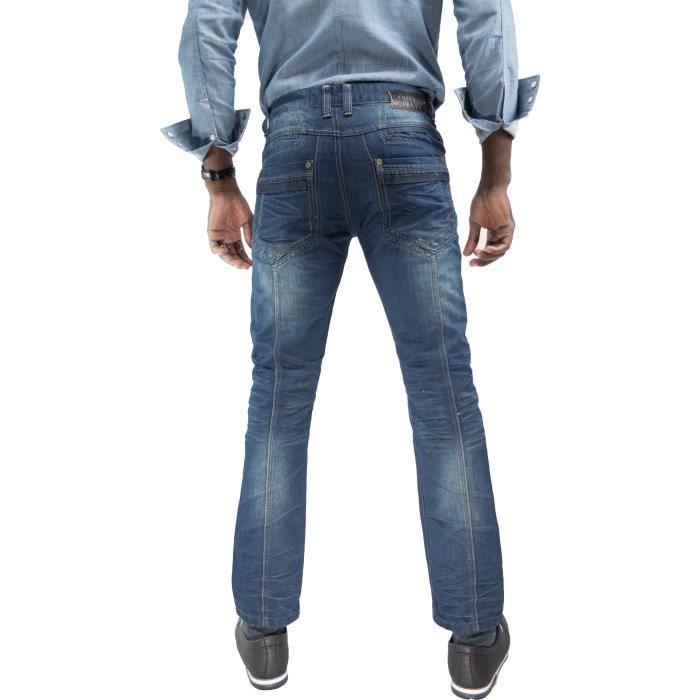 Jeans homme Bootcut à poches rabats K906