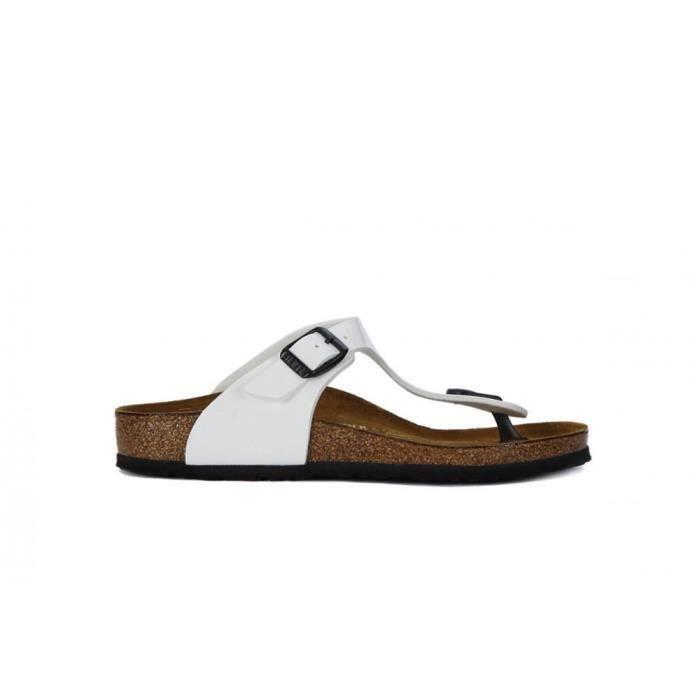 Chaussures Birkenstock Gizeh White