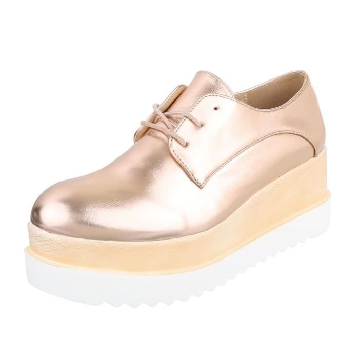 Chaussures Plates 1f8ypb 37 Lacets Femmes Trendtwo Wedge Taille qBZU85