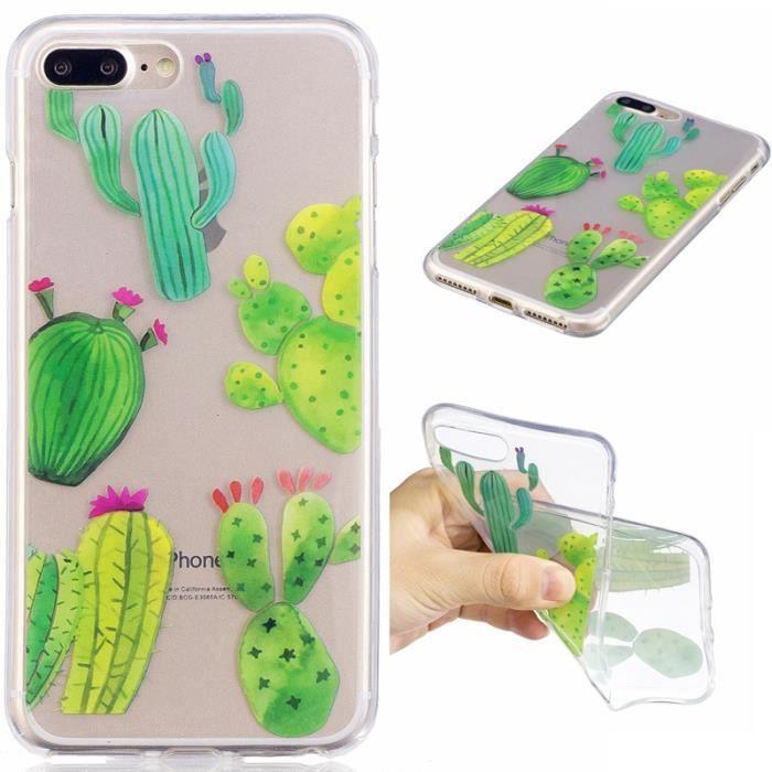 iphone 8 plus coque cactus