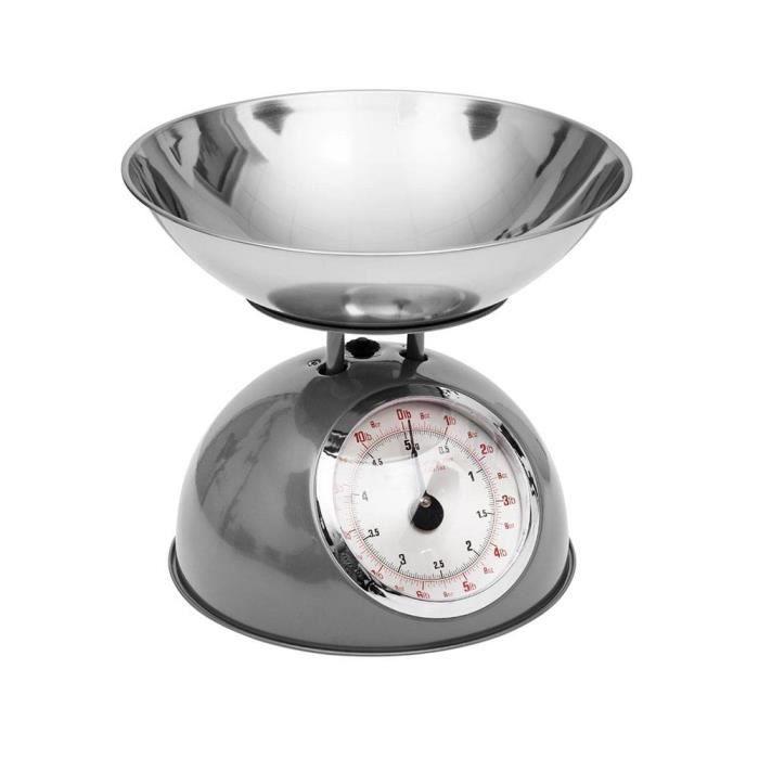 Balance De Cuisine Rétro Grise 5kg