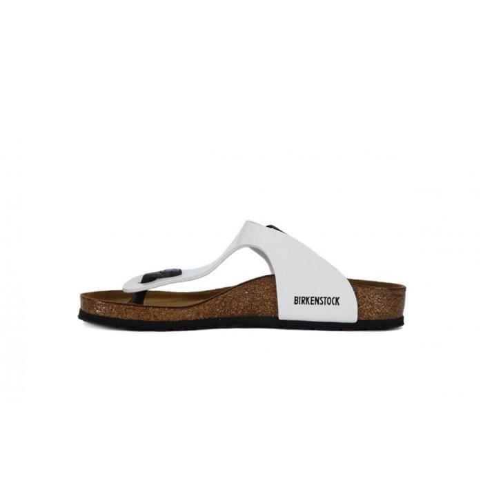 Chaussures Birkenstock Gizeh White ozRLnYw