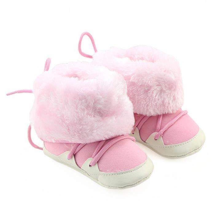 BOTTE Toddler bébé nouveau-né ours doux semelle bottes bottes Prewalker chaud@RoseHM W9mOG5PZ